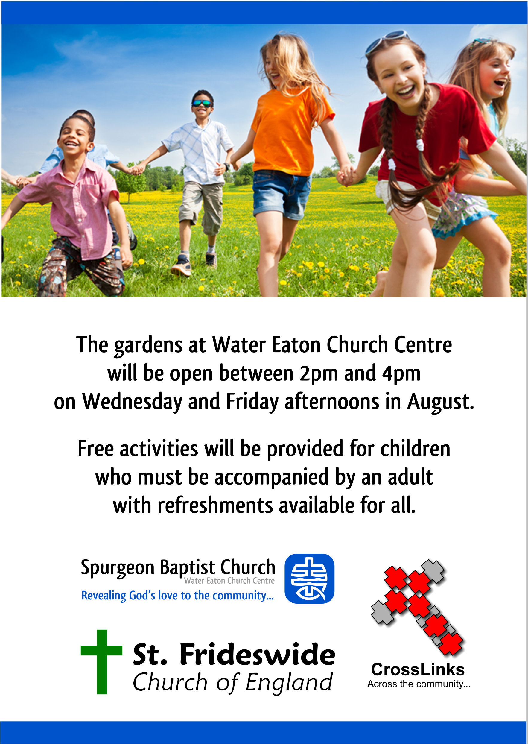 Free Garden Activities For Children, Wednesday and Friday afternoons in August