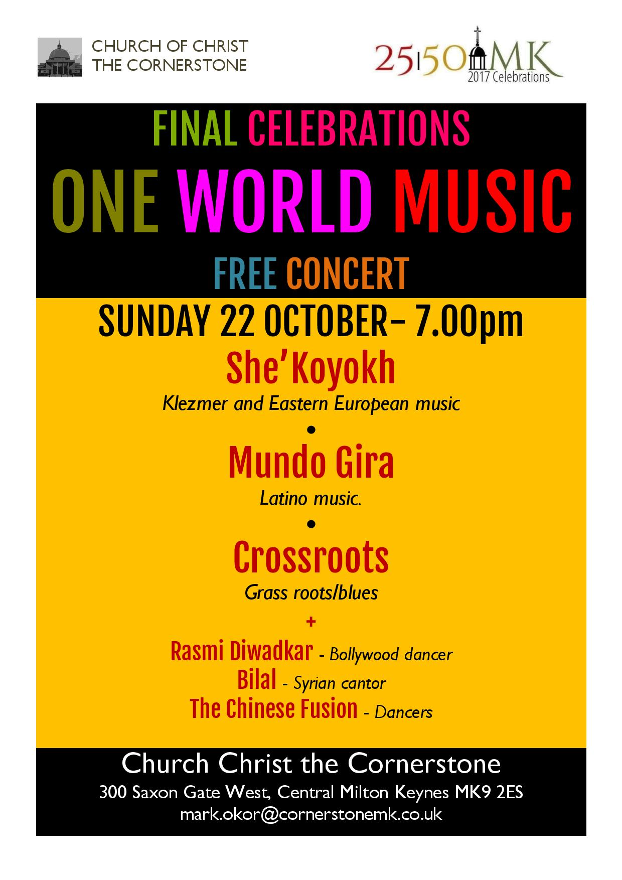 One World Music Concert at Christ the Cornerstone