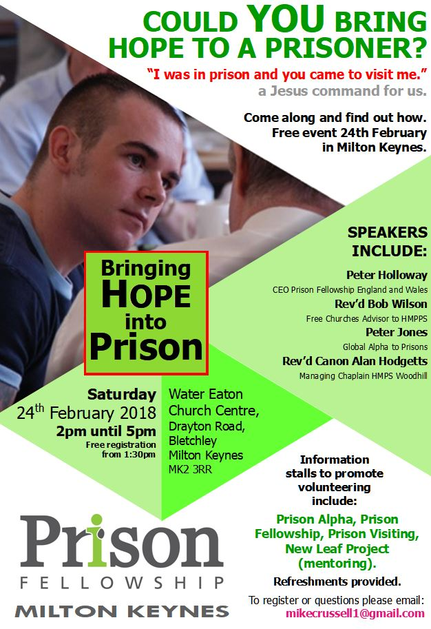 'Prison Hope Day' at Water Eaton Church Centre: 24 February 2018