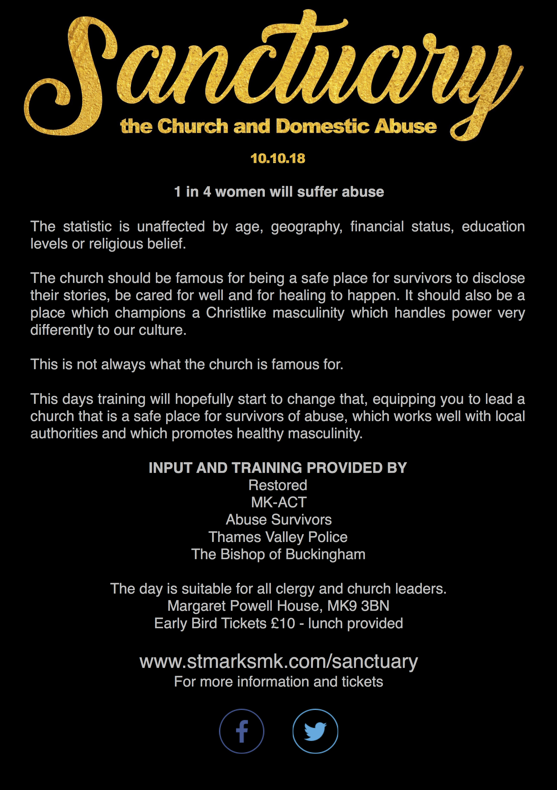 Sanctuary - The Church and Domestic Abuse: 10 October 2018